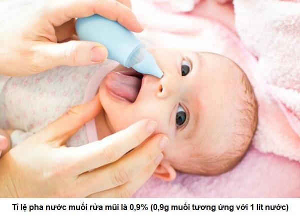 cách pha nước muối rửa mũi cho bé